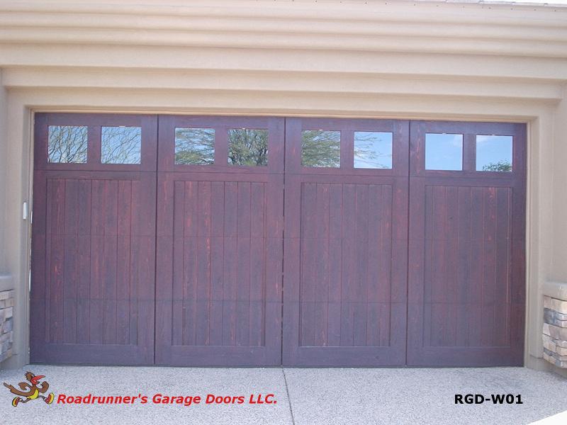 Roadrunners garage doors llc az garage door repair for Garage door wood overlay